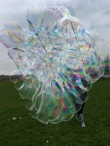 Giant bubble display, play and have a go party in Watford, London.